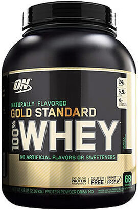 Gold Standard 100% Whey Protein Naturally Flavored Gluten Free Vanilla 4.8 lbs.