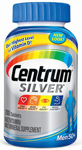 Centrum® Silver® Men 50 Plus Multivitamins