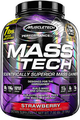 Mass Tech® Mass Gainer Strawberry 7 lbs.