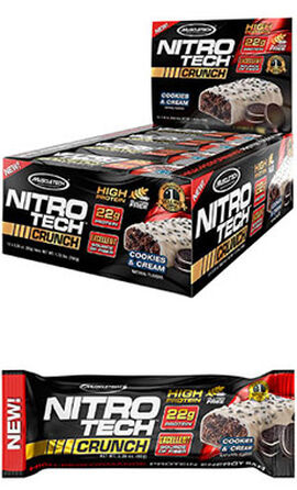 Nitro Tech™ Crunch Protein Bars Cookies & Cream