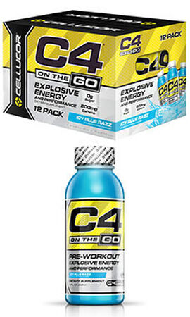 C4® On The Go Preworkout Energy Drinks Icy Blue Razz