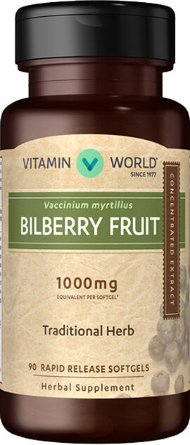 Bilberry 1000 mg.