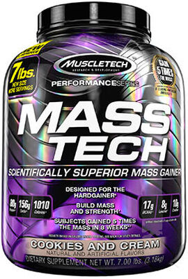 Mass Tech® Mass Gainer Cookies & Cream 7 lbs.