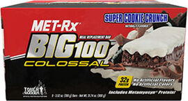 Big 100 Colossal Meal Replacement Bars Super Cookie Crunch