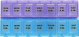 7-Day AM/PM Locking Pill Reminder