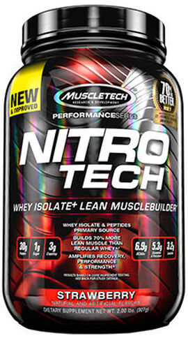 Nitro Tech™ Whey Isolate+ Strawberry 2 lbs.