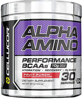 Alpha Amino BCAAs Fruit Punch 13.4 oz.