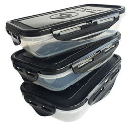 Sure Seal Containers Black Lids - Set of 3 24 oz.