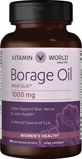 Borage Oil 1,000 mg.