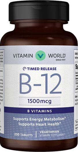 Vitamin B-12 1500 mcg. Timed Release