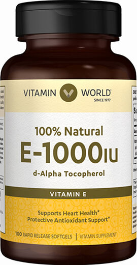Vitamin E 1000 IU 100% Natural