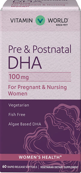Pre & Postnatal Multivitamins with DHA 100 mg.