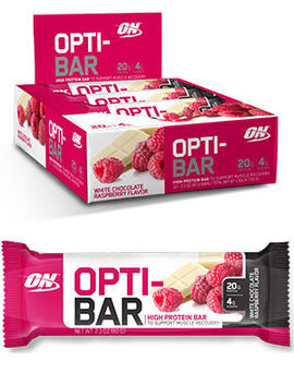 Opti-Bar Protein Bars White Chocolate Raspberry