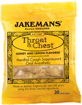 Jakemans® Throat and Chest Lozenges Honey Lemon