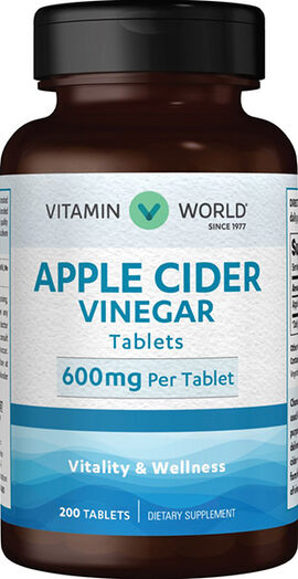 Apple Cider Vinegar 600 mg.