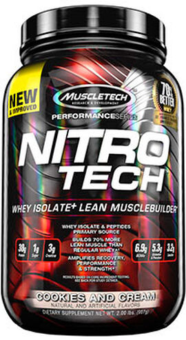 Nitro Tech™ Whey Isolate+ Cookies & Cream 2 lbs.