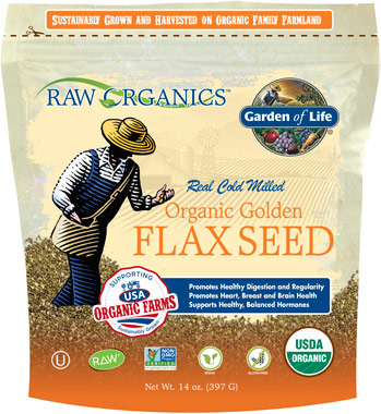 Organic Golden Flax SeedVW.GOL ORG FLAXSEED.14 OZ.PWD<br>