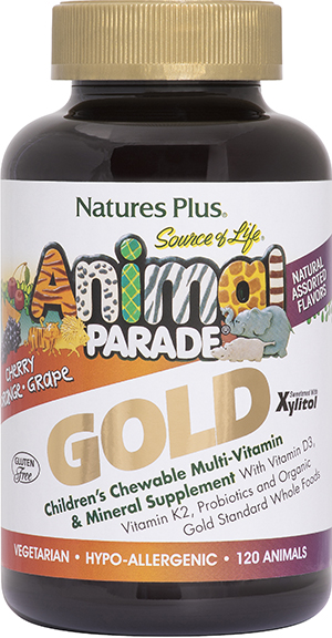 Animal Parade Gold Childrens MultivitaminsVW.ANIMAL PRAD GLD ASST.120.SF<br>