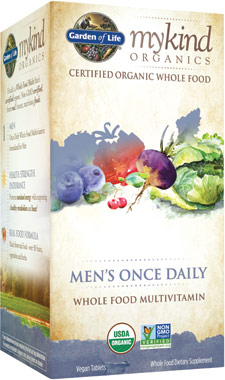 mykind Organics Mens Once Daily MultivitaminVW.GL KIND MENS ONCE.30 CT.TA<br>