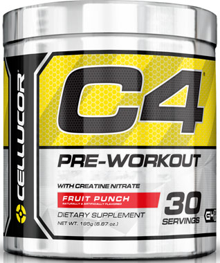 C4 Pre Workout Fruit Punch 6.87 oz.VW.CELLUCOR C4 EXT FP.6 OZ.PWD<br>