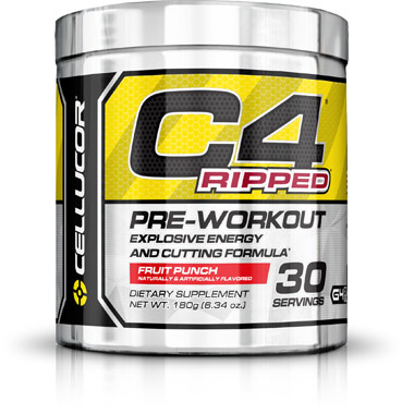 C4 Ripped Pre Workout Fruit PunchVW.C4 RIPPED  PREWRK FP.6.4 OZ<br>