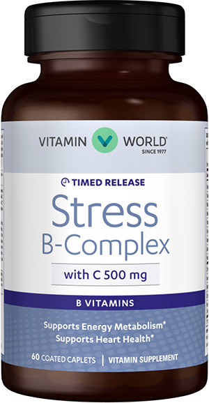 Stress B-Complex with 500 mg. Vitamin C Timed ReleaseVW.TR STRESS B W/C.500.MG.60.T<br>