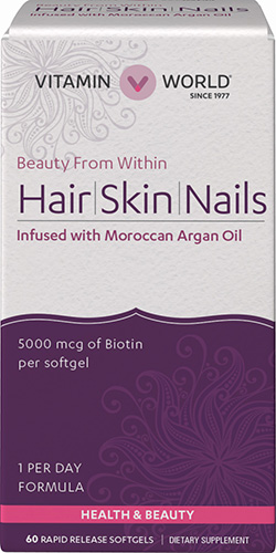 Hair, Skin &amp; Nails with Moroccan Argan OilVW.HAIR SKIN NAILS.60.SFG<br>