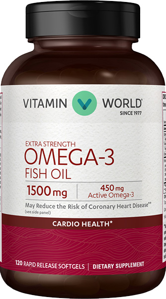 Omega 3 fish oil 1500 mg at vitamin world for Multivitamin with fish oil