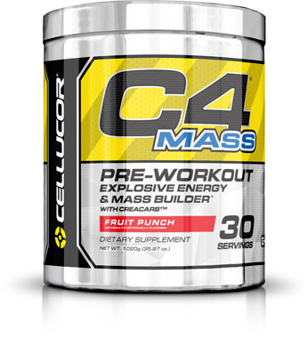 C4 Mass Pre Workout Fruit Punch 35.97 oz.VW.C4 MASS PREWORK FP.36.PWD<br>