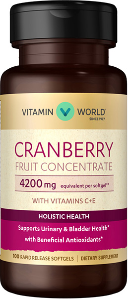 Cranberry Fruit Concentrate with C + E 4200mgVW.NAT CRANBERRY CONCT.4200.MG<br>