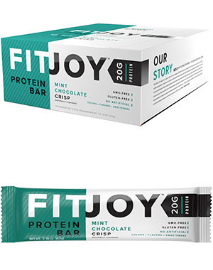 FitJoy Protein Bars Mint Chocolate CrispVW.WO BX FJ MINT CHOC.12.BAR<br>