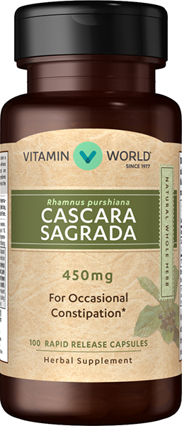Cascara Sagrada 450mgVW.CASCARA-SAGRADA.450.MG.100.<br>