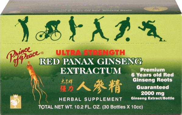 What is red panax ginseng extract used for