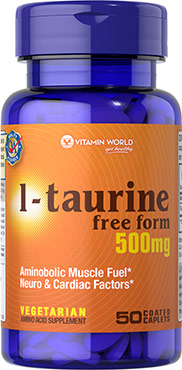 L-Taurine 500 mg.VW.L-TAURINE.500.MG.50.CPT<br>