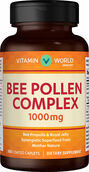 Vitamin World Bee Pollen Complex 1,000 mg. 100 Caplets 1000mg.