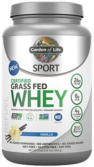 Garden Of Life Sport Certified Grass Fed Whey Protein 2 lbs. Powder Vanilla