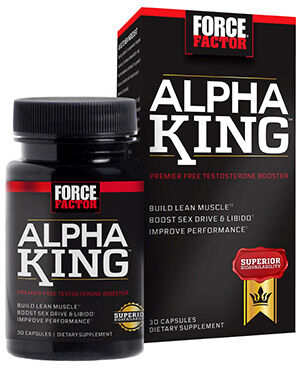 Force Factor Alpha King 30 Capsules 400MG