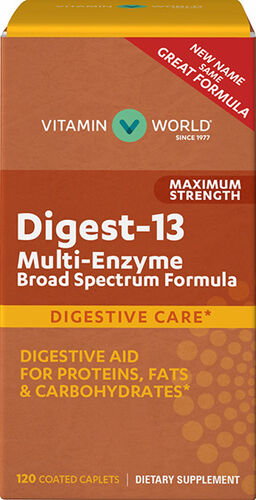 Vitamin World Maximum Strength Digest-13 Multi-Enzyme 120 Caplets