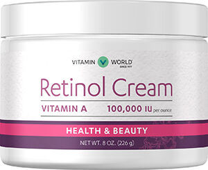Vitamin World Retinol Cream 100,000 IU 8 oz. Cream