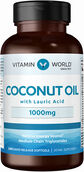 Vitamin World Coconut Oil 1000 mg. 240 Softgels 1000mg.