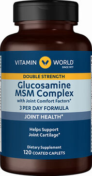 Vitamin World Double Strength Glucosamine MSM Complex 120 Caplets