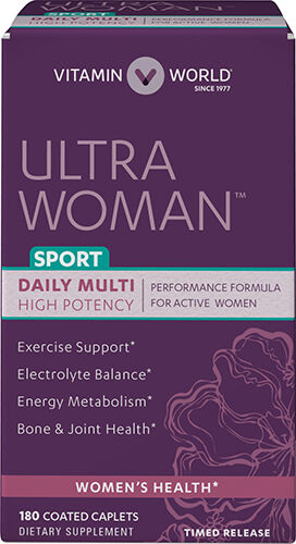 Vitamin World Ultra Woman™ Sport Daily Multivitamins 180 Caplets