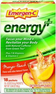 Emergen-C Emergen-C Energy+ Mango Peach 18 Packets 250mg.