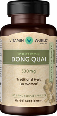 Vitamin World Dong Quai 530 mg. 100 Capsules