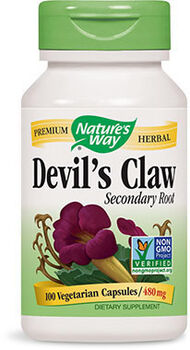Nature's Way Devil's Claw Secondary Root 480 mg. 100 Capsules