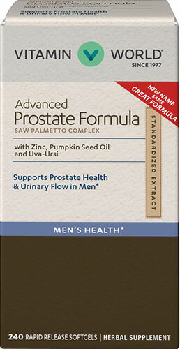 Vitamin World Advanced Prostate Formula Saw Palmetto Complex 240 Softgels