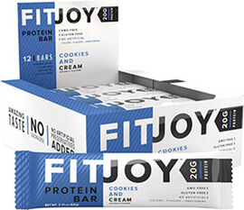 FitJoy Protein Bars Cookies and Cream