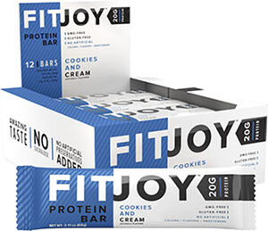 FitJoy Protein Bars Cookies and Cream, , hi-res