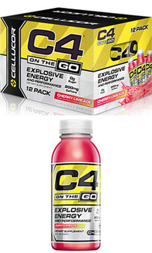 C4® On The Go Preworkout Energy Drinks Cherry Limeade, , hi-res