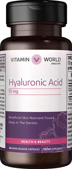 Vitamin World Hyaluronic Acid 50 mg. 60 Capsules
